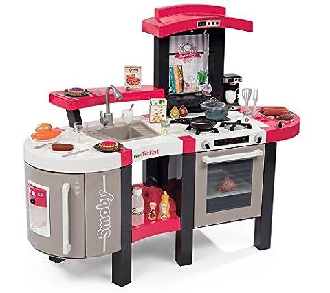 Smoby Toys, 311304, Tefal Cuisine Super Chef Deluxe, Jeu d'Imitation, Multi-Fonctions, Module Electronique, + 46 Accessoires, Rouge