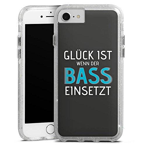 Apple iPhone 6 Bumper Hülle Bumper Case Glitzer Hülle Phrases Sayings Sprüche Bumper Case Glitzer silber