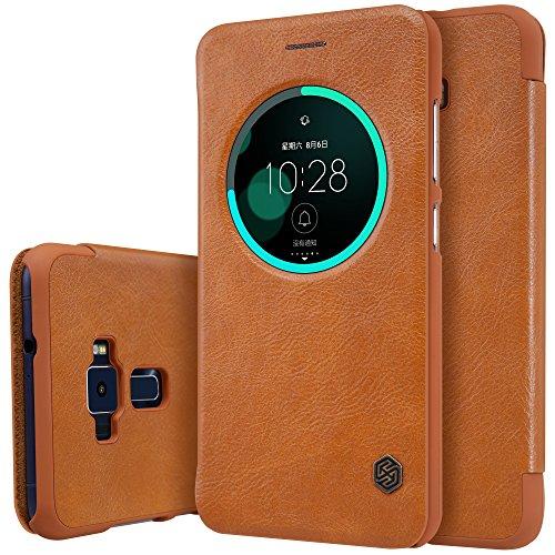 Meimeiwu Haute Qualité Leather Portefeuille Case - Ultra-mince Étui Housse Coque en Flip Cover avec Conception pour Asus Zenfone 3 ZE552KL 5.5 - Marron