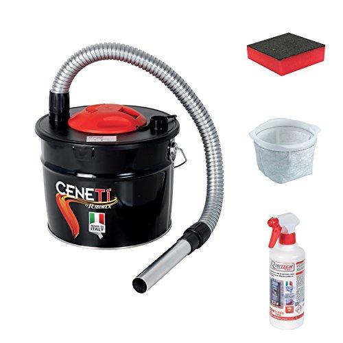 Aschesauger elektrisch CENETI + PUGNA und Reiniger 500 ml Gratis