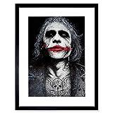 BATMAN JOKER HEATH LEDGER TATTOO INKED FRAMED ART PRINT BY W.MAGUIRE F97X12441