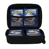 Anter Custodia EVA con custodia rigida per carte collezionabili Pokemon, porta giochi con separatore rimovibile (nero)