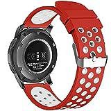 22mm 20mm 18mm Smart Watch Bands, Fantek Coque en silicone doux respirant Nike Sport Band étanche Alternative Bracelet de montre bracelet pour Pebble Time/Moto 3602nd Gen montre/Samsung Gear S3Frontier/classique