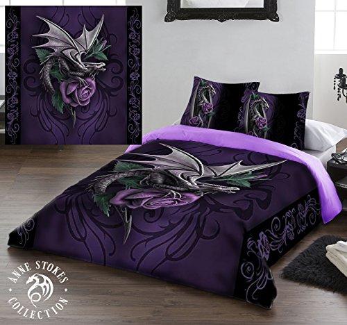 Dragon Beauty - Set piumone e federe matrimoniale, disegno di Anne Stokes