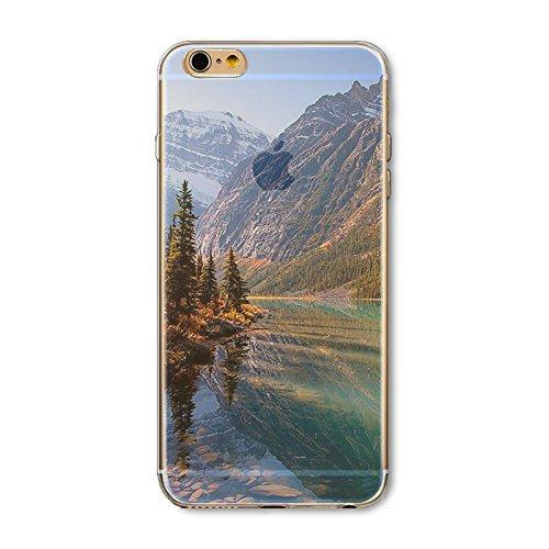 Coque iPhone 7 Housse étui-Case Transparent Liquid Crystal en TPU Silicone Clair,Protection Ultra Mince Premium,Coque Prime pour iPhone 7-Paysage-style 7 12