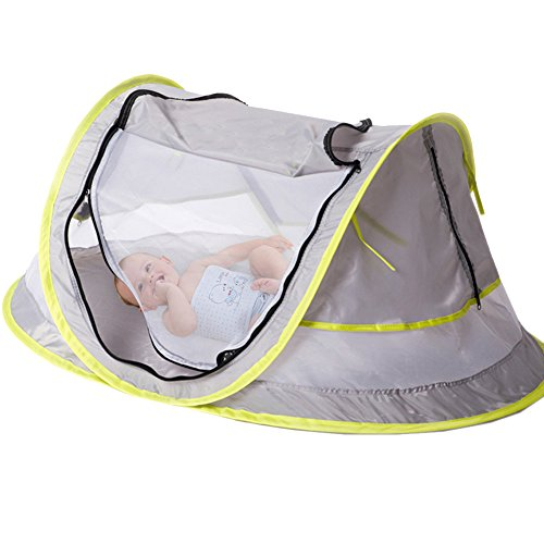 Baby Pop Up Travel Cot Bed Tent Mosquito Net Pillow Mesh Bag Included