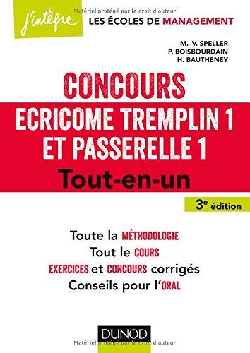 Concours cricome Tremplin 1 et Passerelle 1 - 3e d. - Tout-en-un