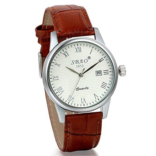 jewelrywe-mens-roman-numeral-quartz-analog-wristwatch-business-casual-auto-date-watch-leather-band-b