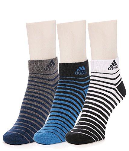 Adidas Men's Flat Knit Quarter Socks - 3 pair pack