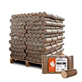 PALIGO Holzbriketts Nestro Hartholz Eiche Kamin Ofen Brenn Holz Heiz Brikett 10kg x 96 Gebinde 960kg / 1 Palette Heizfuxx
