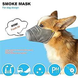 Danigrefinb Masque Respirant pour Chien Filtre PM2,5 Anti-fumée et Anti-Brouillard
