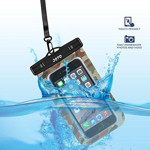 hot sales 9e41e 4f637 Universal Waterproof Case, JOTO Cellphone Waterproof Case Dry Bag Pouch for  Apple iPhone 6S 6,6S Plu