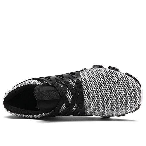 GOMNEAR Laufende Leichte Schuhe Herren Atmungsaktiv Rutschfest Draussen Schnüren Sport Gehen Turnschuhe Red-48 x38BO0up
