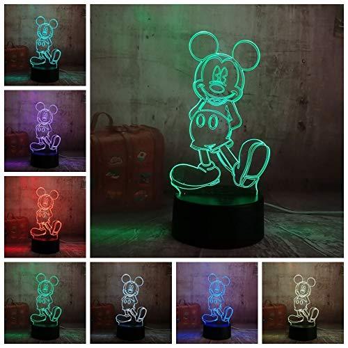 Mickey Mouse 3D LED Nachtlicht Illusion Neuheit Tisch Schreibtischlampe Geburtstag Kind Kinder Wohnkultur ()
