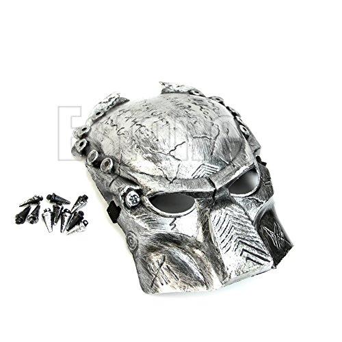 Jungen Predator Für Kostüm - Predator Warrior Kostüm Heilige Maske Cosplay Requisiten 1 Stück silber