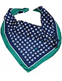 Luxury Satin square Star motive printed Neck scarf