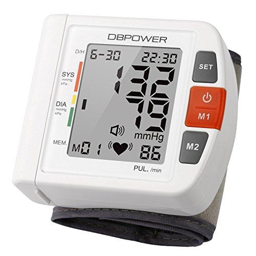 Professioneller Handgelenk Blutmessmonitor, hohe Genauigkeit, 90 Speicherplätze, Zwei Nutzermodi mit IHB und WHO Indikator, FDA-zertifiziert