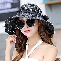0e86d116d7cde WQLQL Sombrero de paja de sol de moda Tejido a mano Femenina Sombra de Verano  Sombrero