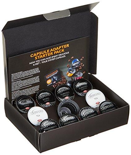 Kapsel-Adapter Starter Pack für Dolce Gusto Maschinen inklusive 10 Kapseln ESPRESTO 68g