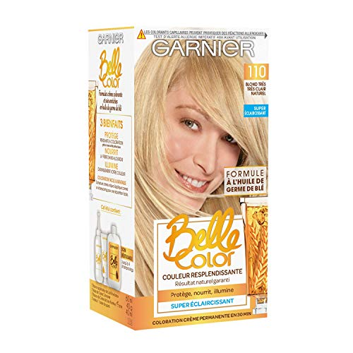 Garnier - Belle Color - Coloration permanente Blond - 110 Blond très très clair naturel Lot de 2