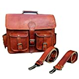 Honey Leather Exporters Herren-Ledertasche, Echtleder, Messenger-Taschen, Laptop-/Aktentasche