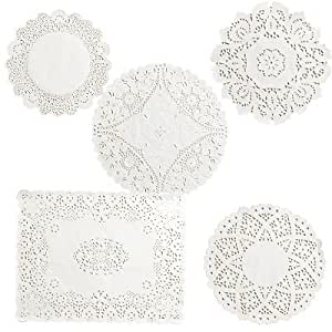 120 x Lakeland Decorative Paper Table Doilies Assorted Bumper Pack in 6 Designs