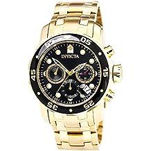 Invicta Pro Diver - 0072 Orologio da Polso, Cronografo, Uomo, Cinturino Acciaio Inossidabile, Oro