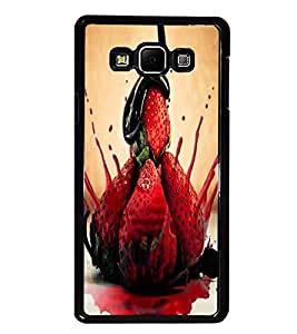 PrintDhaba Strawberries D-3895 Back Case Cover for SAMSUNG GALAXY E7 (Multi-Coloured)