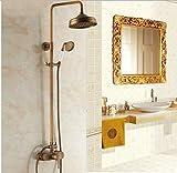 ETERNAL QUALITY Bacino del bagno lavandino rubinetto in ottone Miscelatore rubinetto bagno Miscelatore Tocca antichi kit doccia di rame pieno di acqua calda e fredda rubinetti Rubinetti da bagno vasca da bagno ascensore Rubinetti per cucina