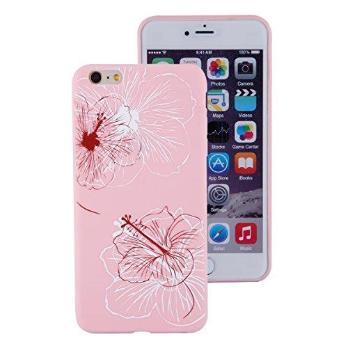 Apple iphone 6s Plus Hülle,iphone 6 Plus TPU Case Cover,Ekakashop Ultra Dünn Rose Soft Glänzend Schale Silikon Gel Schutzhülle Handyhülle mit Muster für Apple iPhone 6 plus / 6s plus, Wunderschön Eine Große Blütenblätter