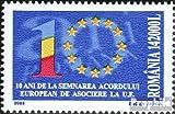 Rumänien 5711 (kompl.Ausg.) 2003 10Jahre Assoziation mit der EU (Briefmarken für Sammler)