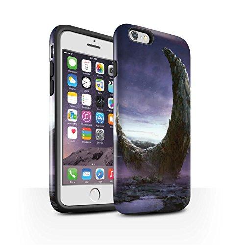 Offiziell Chris Cold Hülle / Glanz Harten Stoßfest Case für Apple iPhone 6S / Schmelzen Sonne Muster / Fremden Welt Kosmos Kollektion Zerbrochenen Mond