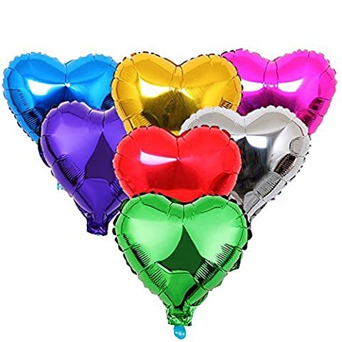 Zebratown 50pcs/lot Heart Shape Foil Mylar Helium Ballon 18 Balloon Birthday Party Decoration Foil Balloons by Foil balloon