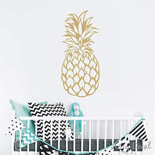 Einzigartige Dekor (wandaufkleber schlafzimmer Große Ananas Gold Ananas Dekor einzigartige Geschenkidee Wohnzimmer Home Decor)