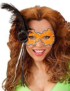 WIDMANN Genérico-Lobo naranja con pluma negra mujer