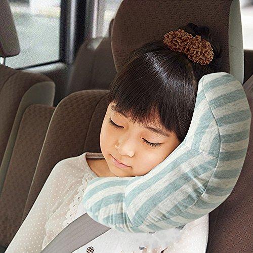Auto Sicherheitsgurt Kopfkissen Autositz Kissen Gurtpolster Streifen Schützen Schulter Pillow Schulterschutz RSPrime Sitzgurt Einstellbar Schlafkissen Nackenstütze für Kinder Baby Kind Sicherheit Schulterschutz (Grün)