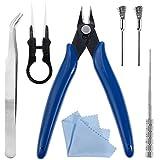 Kit de Herramientas DIY Nabance DIY Kit – Alicates, Pinzas de Cerámica, Pinzas Antiestáticas, Bobina Jig y Cepillo en Acero Inoxidable Bobina de DIY Kit
