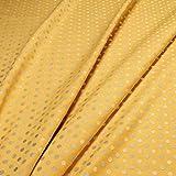 Stoff Trevira® CS Satin Punkte klein gelb hellblau nicht