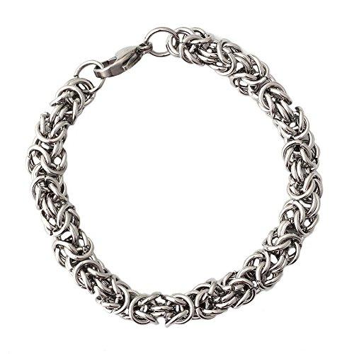 1x-cadena-brazalete-de-acero-inoxidable-pulsera-de-hombre-link-color-plata-19cm