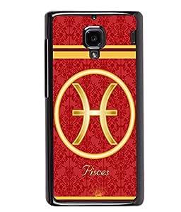 Fuson 2D Printed Sunsign Pisces Designer back case cover for Xiaomi Redmi 1S - D4392
