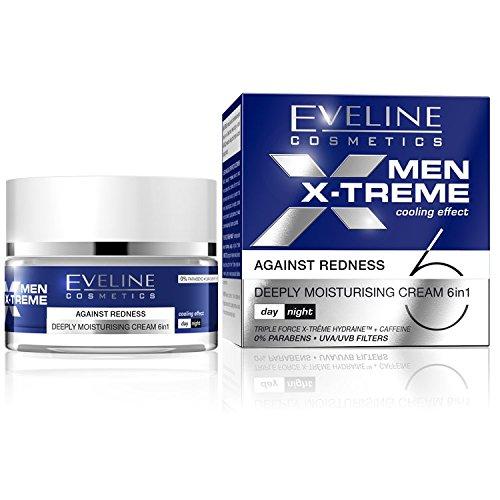 MEN X-TREME Kühleffekt-tief feuchtigkeitsspendende Creme gegen Rötungen 6in1, 50ml
