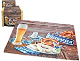 ausgefallene Platzmatte 33x43 cm Biergarten Platzdeckchen Bayern Garten Bierzelt Oktober Hossner (33 x 43 cm)
