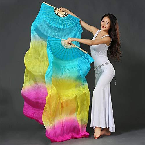 Schleier Bauchtanz Tanzen Kostüm - Tanz Silk Fan, Hand Made Bunte