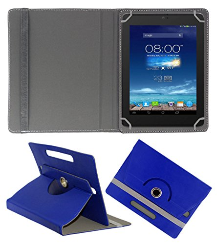 Acm Rotating 360° Leather Flip Case For Digiflip Pro Xt801 Tablet Cover Stand Dark Blue  available at amazon for Rs.159