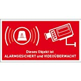 Aufkleber Alarmanlage Objekt alarmgesichert und videoüberwacht