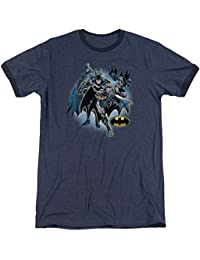 Justice League - Mens Batman Collage Ringer T-Shirt