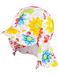TuTu by Galeja Mädchen Sommerhut mit Nackenschutz UV Schutz 30+ mit Schirm Sonnenhut 3 Gr. 40/42-48/50 Mädchenmütze