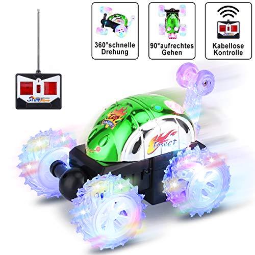 Gopark RC Car 360 ° drehbar Spielzeugauto, Rennwagen schnelles ferngesteuertes Auto für Kinder, Spielzeug für Jungen und Mädchen Grün