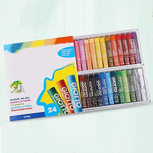 SYLOZ 24 Farben Rundes Öl Pastell, Sicher Und Ungiftig Waschbar Buntstifte, Graffiti-Stift Malen Buntstifte (Haut-farbe-öl-pastell)