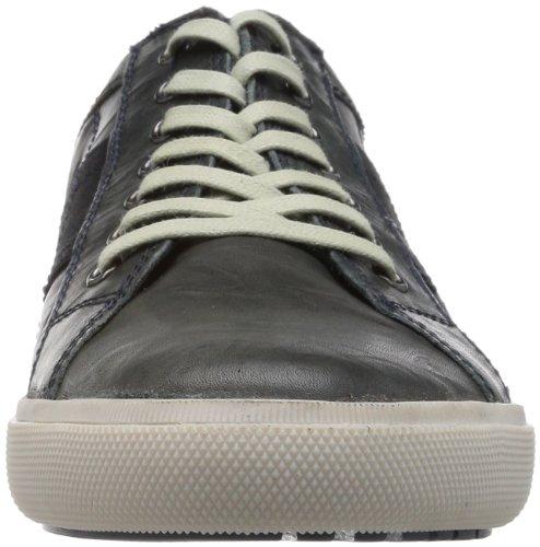 Base London - Sneaker Euro, Uomo Blu (Bleu (401 Crinkle Navy))